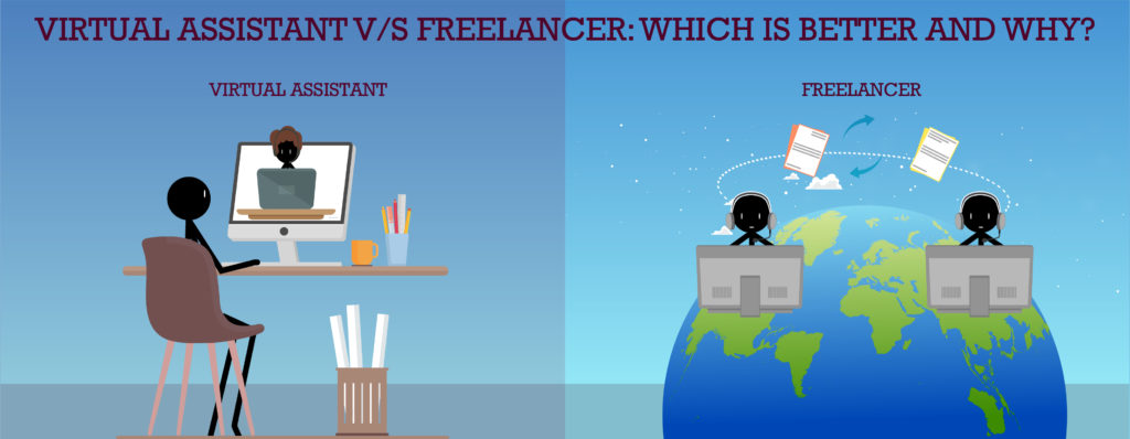 VIRTUAL ASSISTANT V/S FREELANCER FEATURED IMAGE
